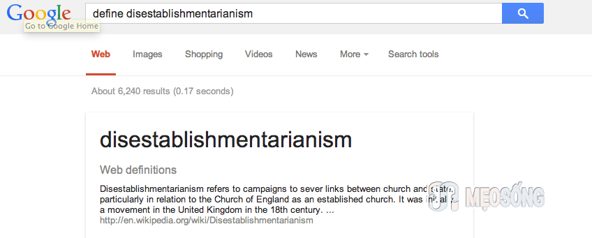 Define a Word with Google