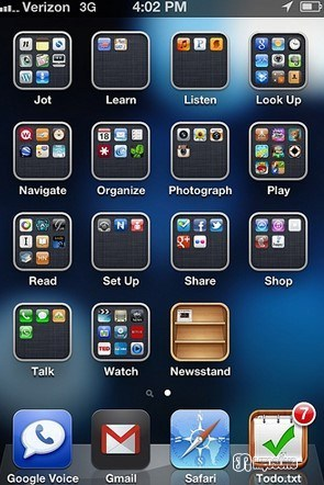 One Screen with Folders